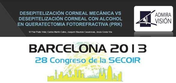 Congreso oftalmología: Admiravisión presenta póster en Secoir 2013