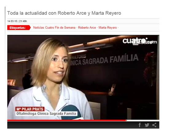 Noticias Cuatro informa sobre la nostra campanya de la Setmana Mundial del Glaucoma