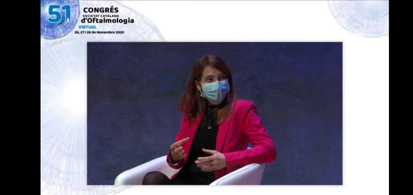 La Dra. Sabater participa en el 51 congreso de la Societat Catalana d'Oftalmologia